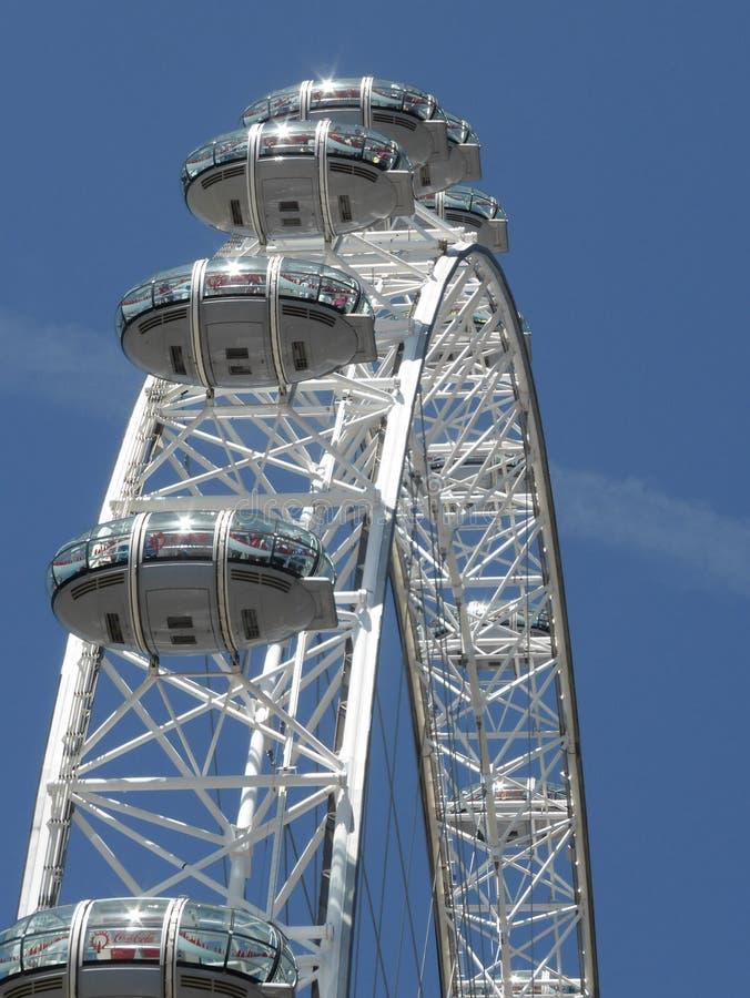 Olho de Londres em Londres fotos de stock royalty free