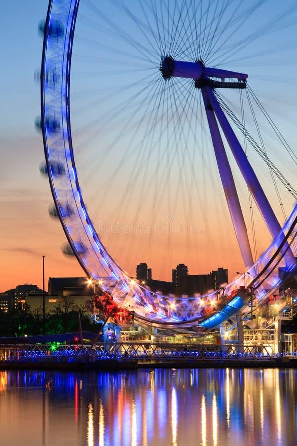 Olho de Londres, Reino Unido. fotos de stock royalty free
