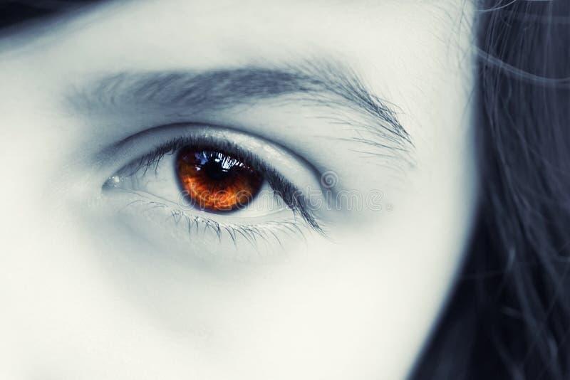Olho de uma menina fotografia de stock