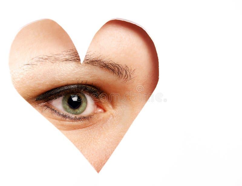 Olho do amor imagem de stock royalty free