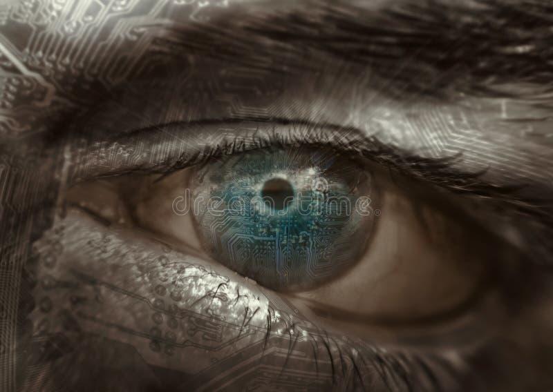 Olho do circuito imagem de stock