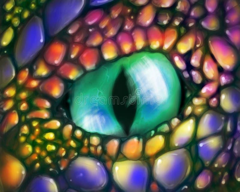 Olho do dragão verde foto de stock