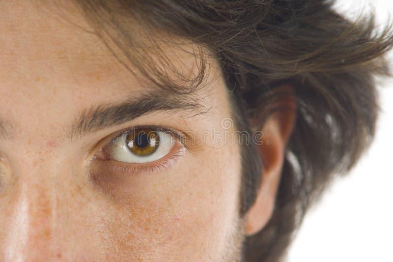 Olho do homem imagem de stock