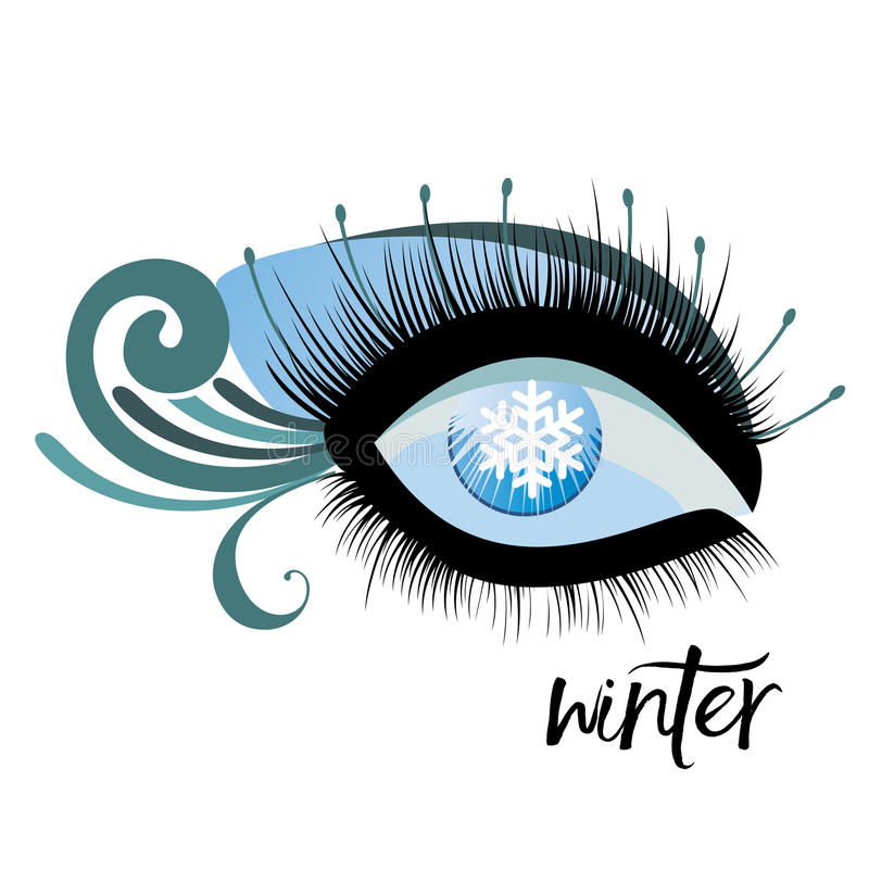 Olho do inverno ilustração royalty free