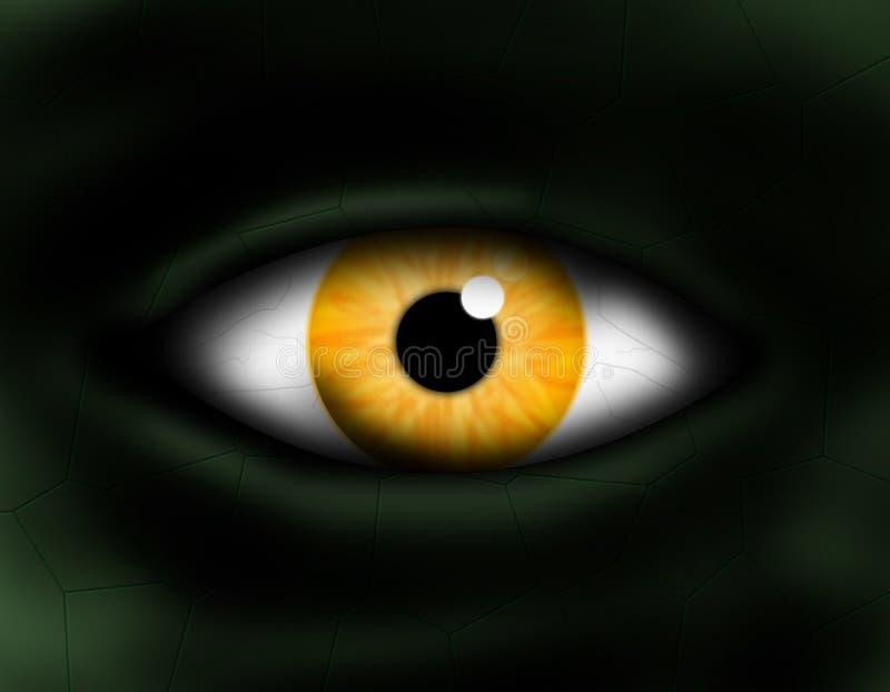 Olho do monstro ilustração do vetor