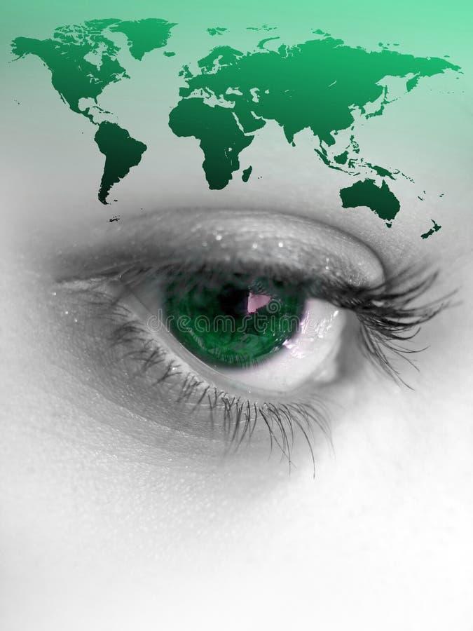 Olho do mundo ilustração royalty free
