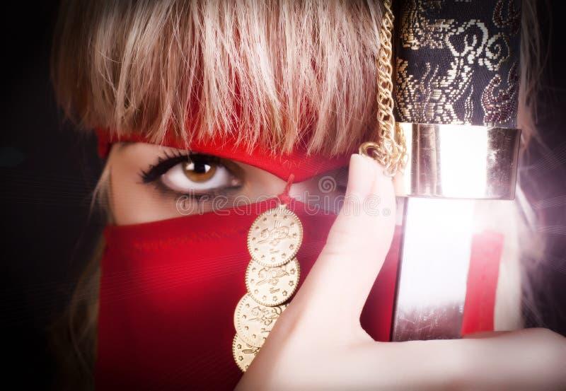 Olho do ninja imagens de stock royalty free