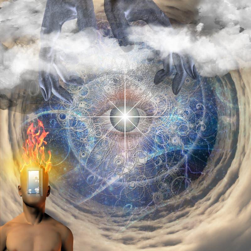 Olho do ` s do deus ilustração do vetor