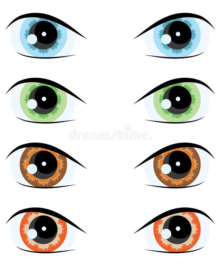 Olho dos desenhos animados. Jogo do vetor ilustração do vetor