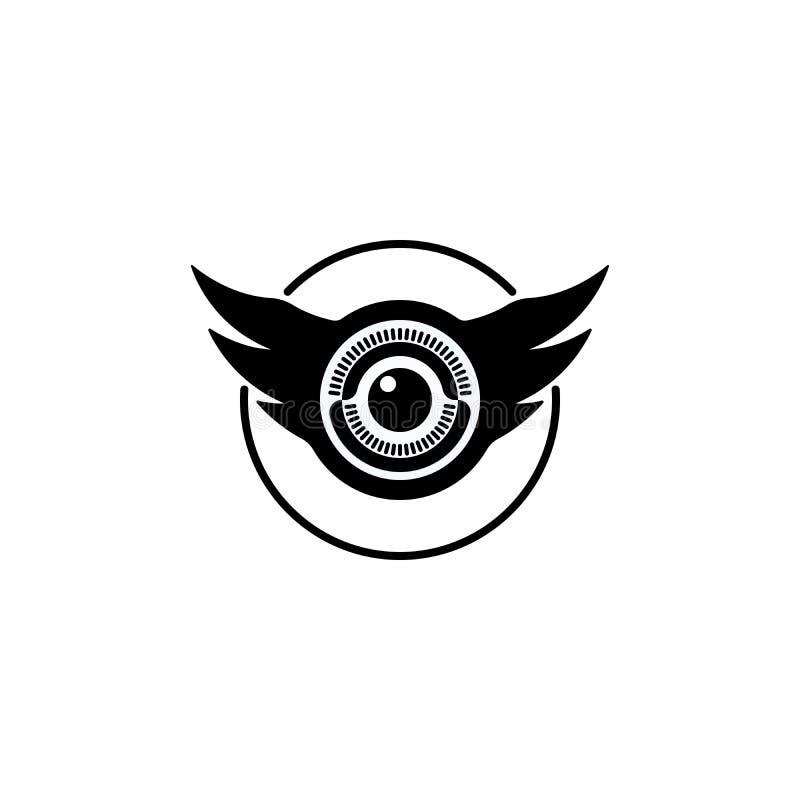 Olho e logotipo dado forma asas ilustração royalty free