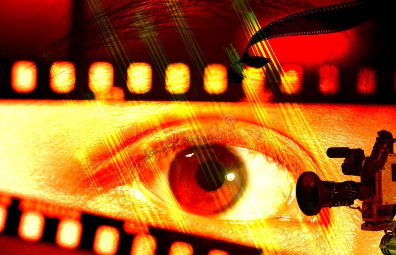 Olho e a película ilustração do vetor