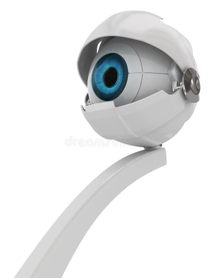 Olho eletrônico ilustração do vetor