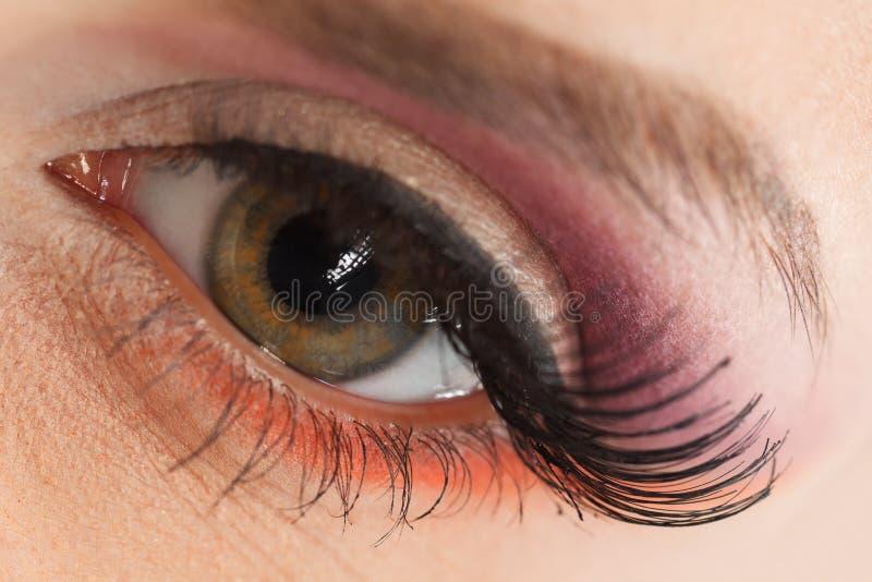 Olho fêmea imagem de stock