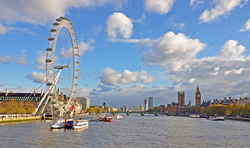 Olho Ferris Wheel de Londres foto de stock