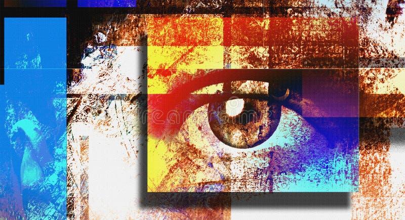 Olho humano do ` s ilustração do vetor