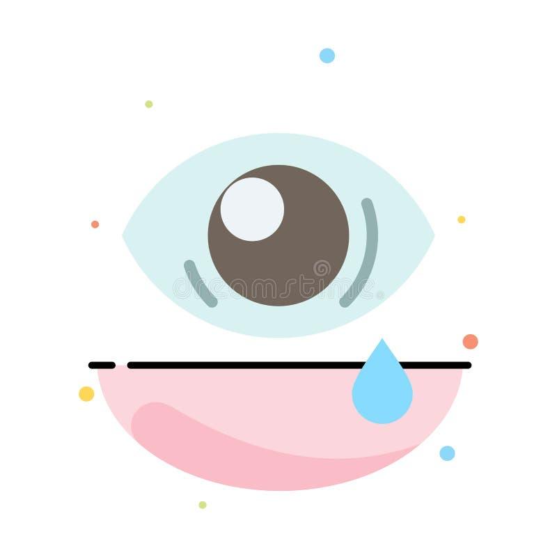Olho, inclinação, olho, molde liso abstrato triste do ícone da cor ilustração stock