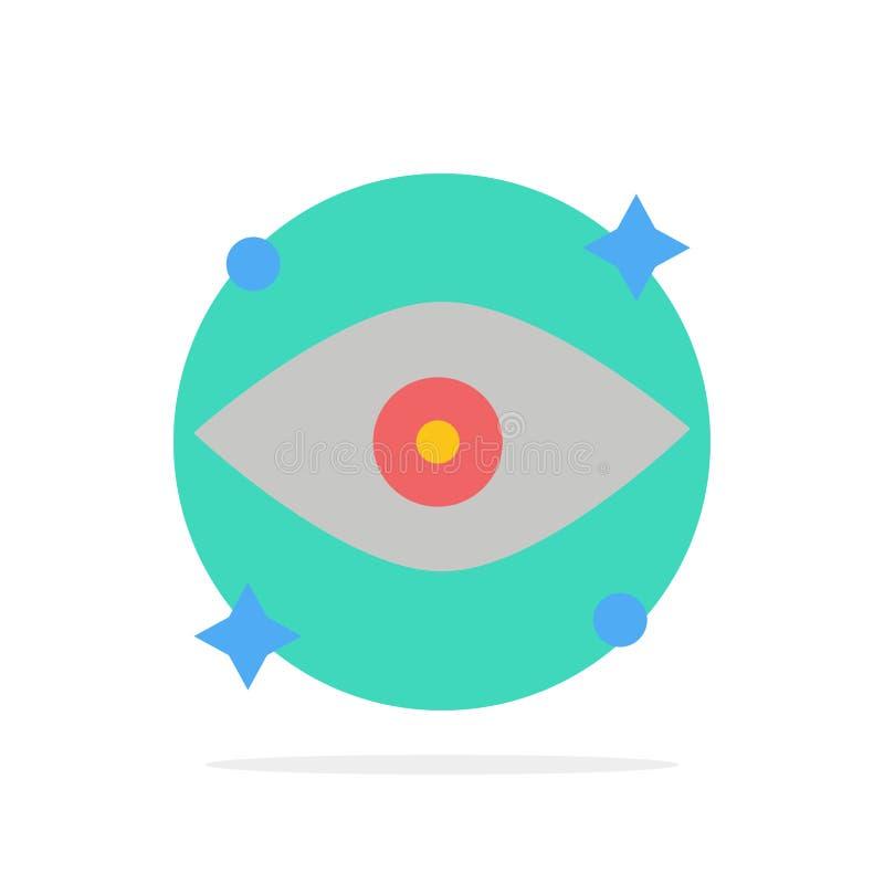 Olho, olhos, ícone liso de observação da cor do fundo abstrato do círculo ilustração stock