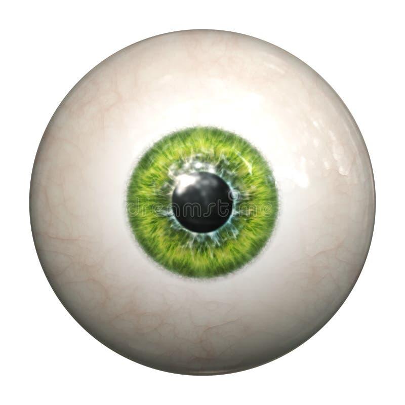Olho verde ilustração royalty free