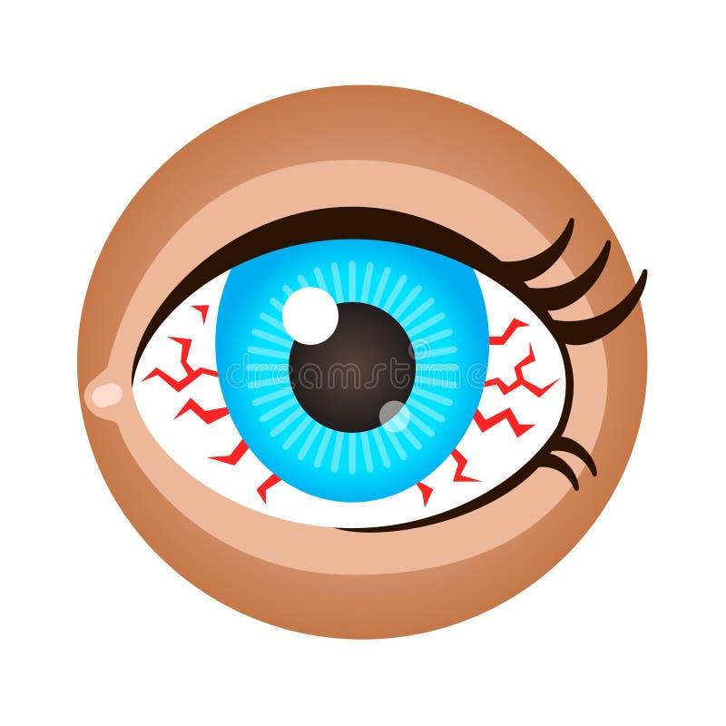 Olho vermelho ilustração royalty free
