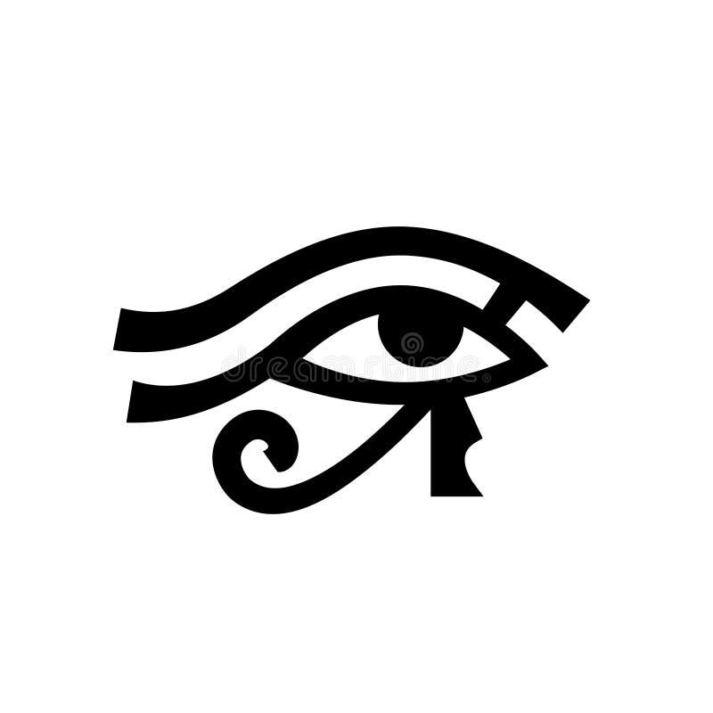 Olho Wadjet de Horus ilustração stock
