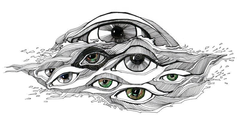 Olhos abstratos ilustração stock