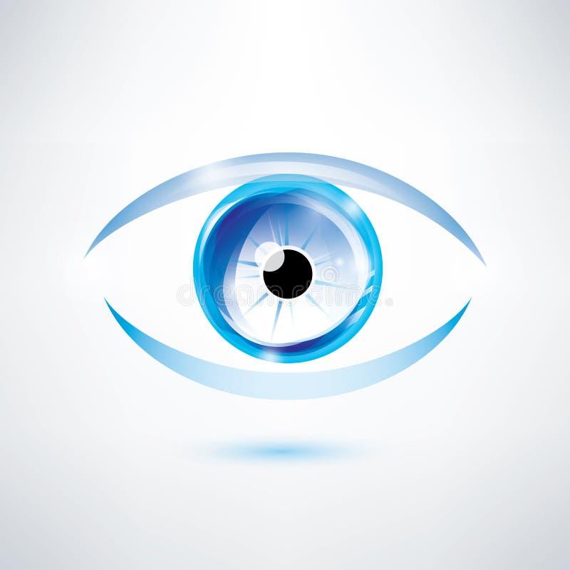 Olhos azuis humanos ilustração royalty free