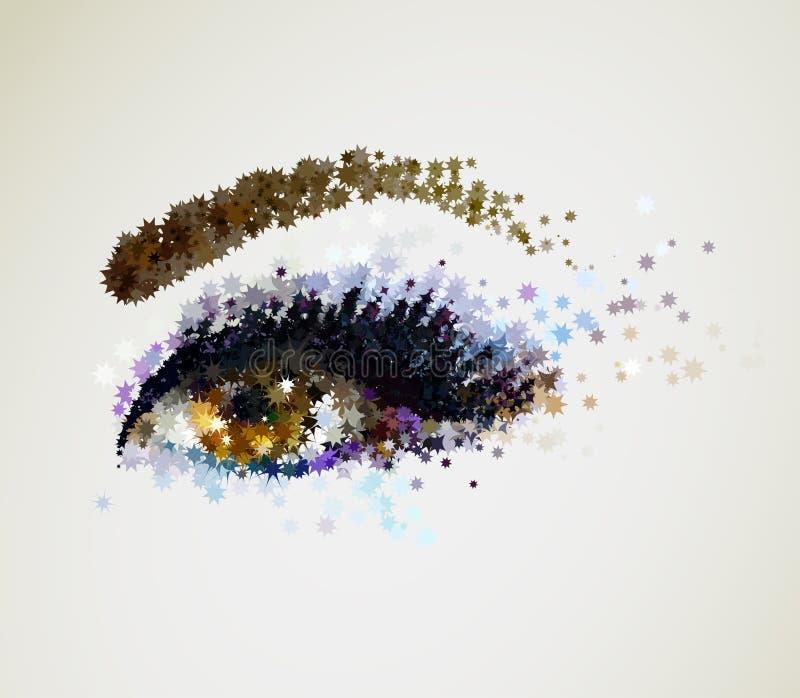 Olhos azuis novos bonitos do olho da mulher? ilustração royalty free