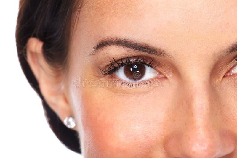 Olhos bonitos da mulher nova fotos de stock