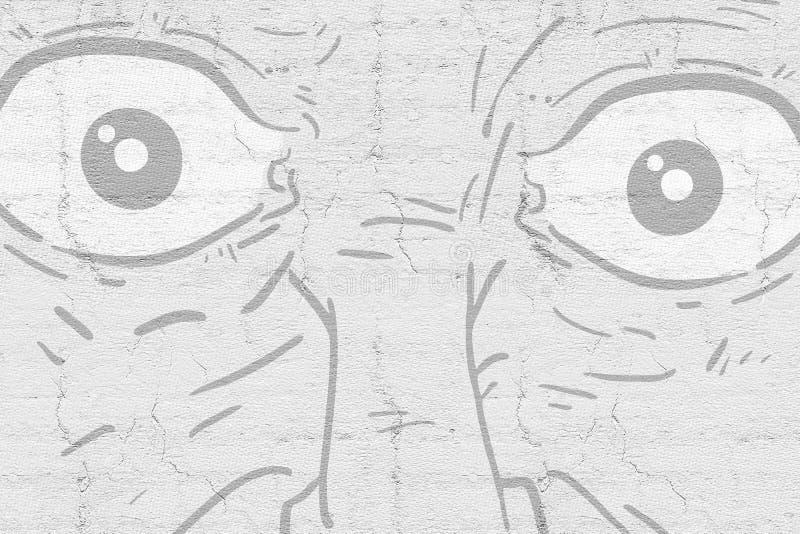 Olhos cómicos ilustração do vetor