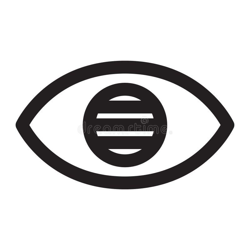 Olhos cegos ilustração do vetor