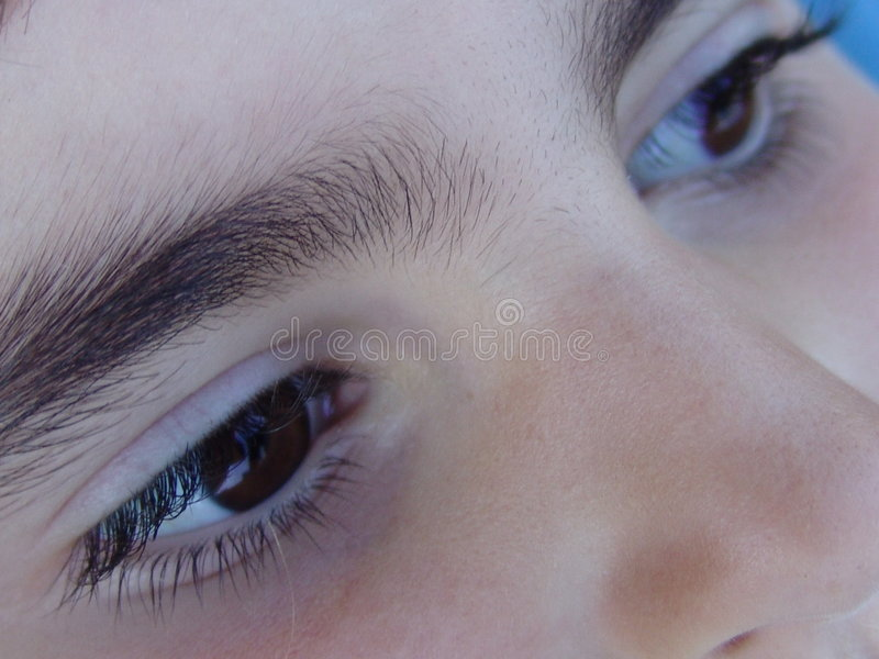 Olhos das crianças imagens de stock