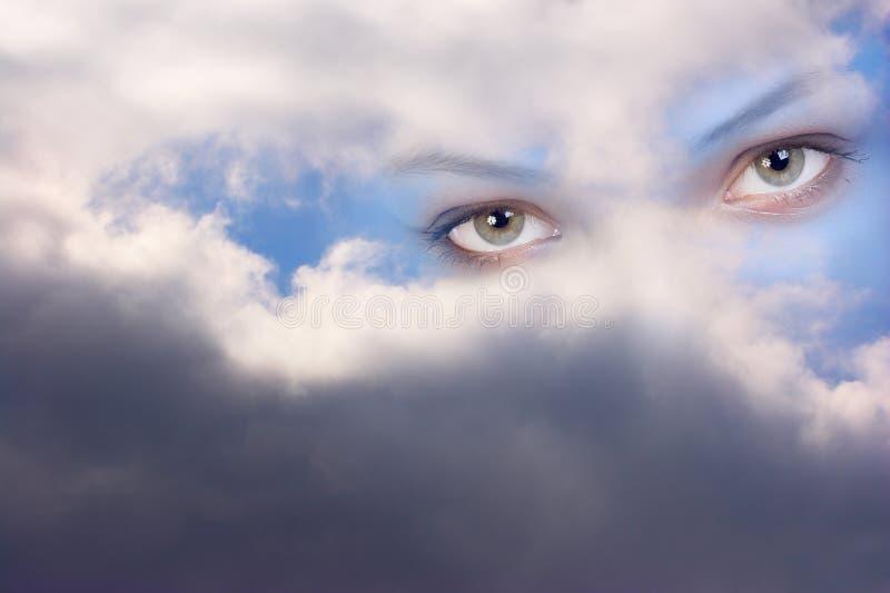 Olhos de anjo de guardião foto de stock royalty free