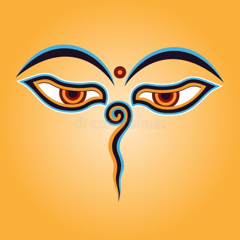 Olhos de Buddha ilustração stock