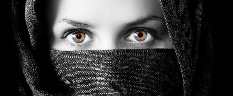 Olhos de fascinação imagens de stock