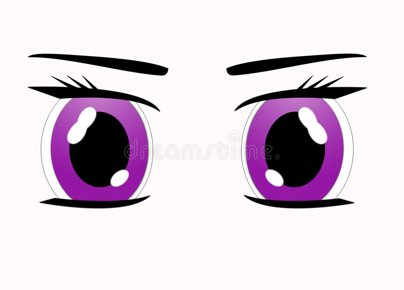 Olhos de Manga ilustração do vetor