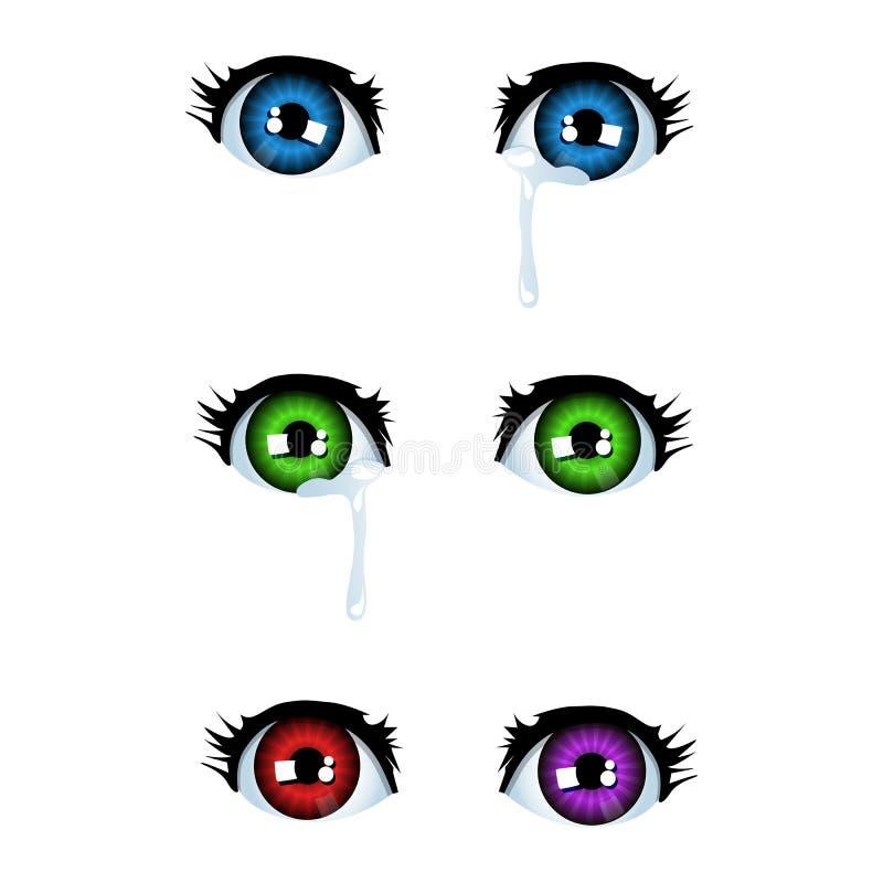 Olhos do Anime ilustração do vetor