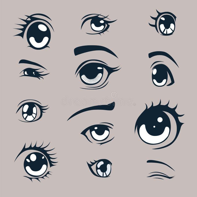 Olhos do Anime ilustração royalty free