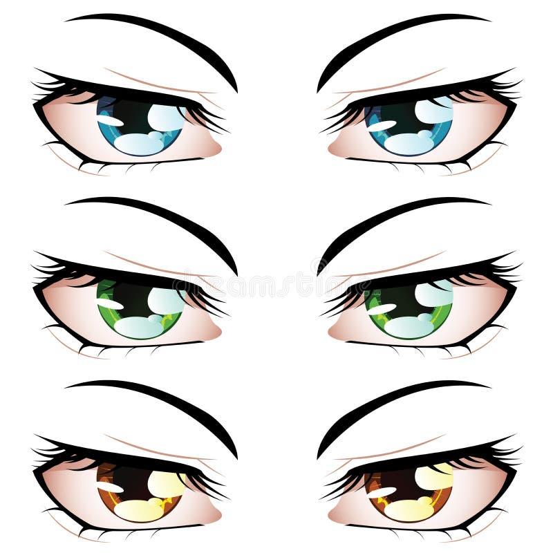 Olhos do estilo do Anime ilustração royalty free