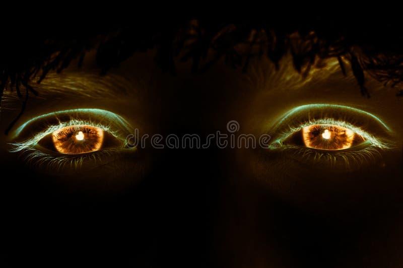 Olhos do incêndio fotografia de stock