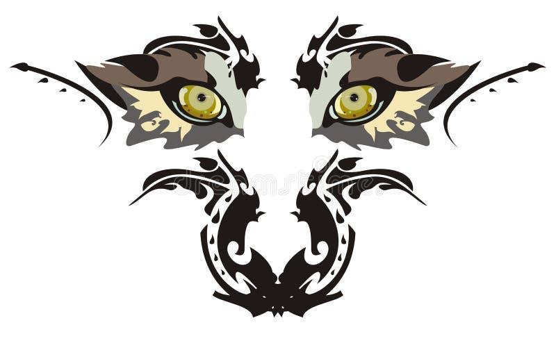 Olhos do lobo ilustração do vetor