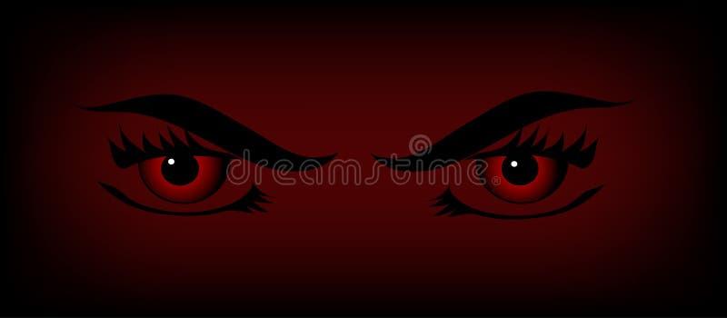 Olhos do vampiro ilustração do vetor