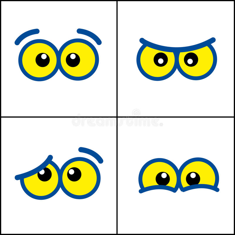 Olhos dos desenhos animados foto de stock