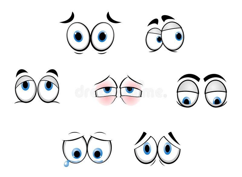 Olhos engraçados dos desenhos animados ilustração do vetor