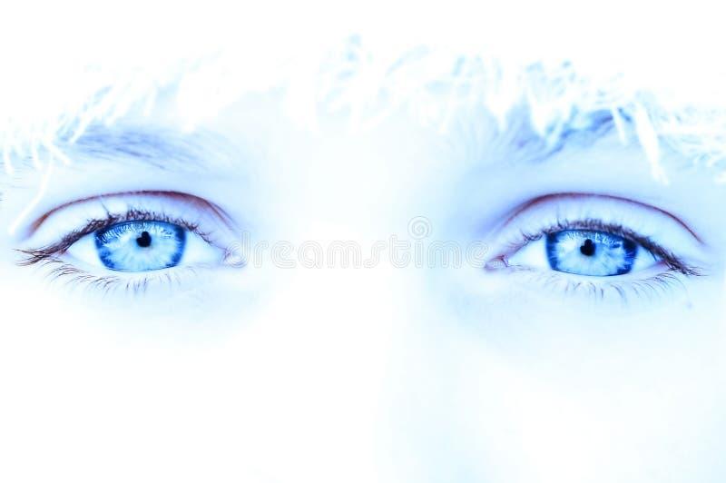 Olhos frescos do gelo fotos de stock