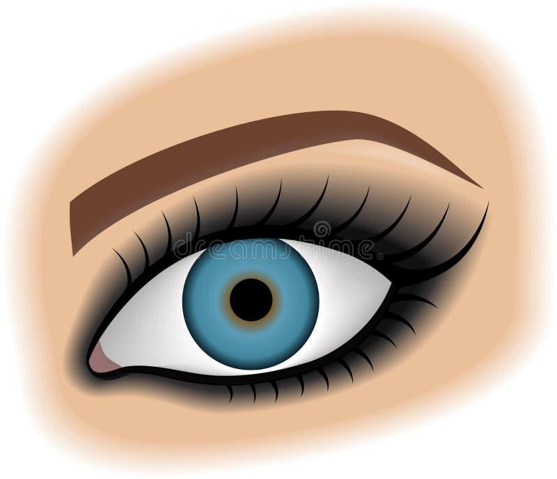 Olhos fumarentos ilustração stock