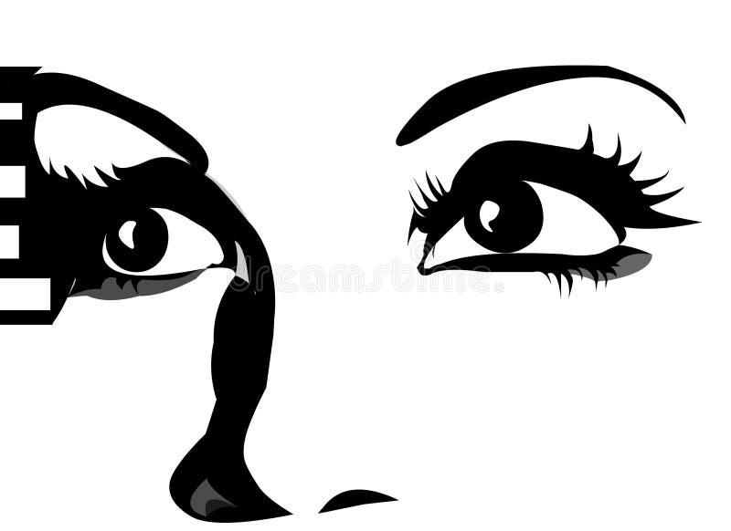 Olhos gráficos que olham acima ilustração royalty free