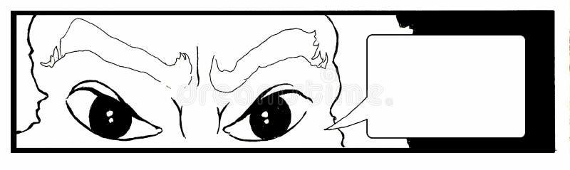 Olhos irritados ilustração stock
