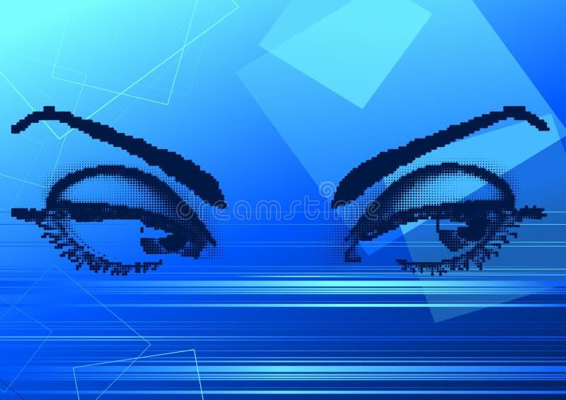 Olhos mágicos ilustração do vetor