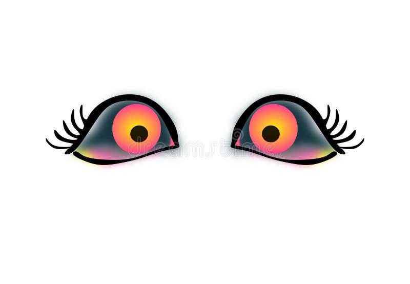 Olhos maus irritados dos desenhos animados do vetor O ` t de Don toca em me ilustração do vetor