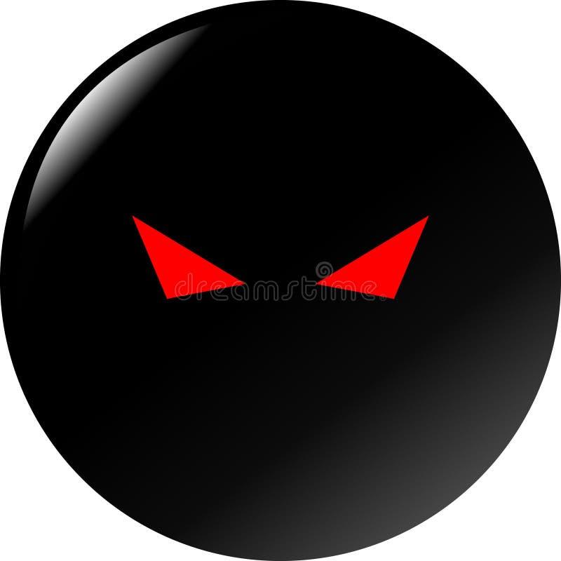 Olhos maus misteriosos ilustração do vetor